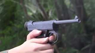 二十六年式拳銃、九四式拳銃、十四年式拳銃 実弾射撃