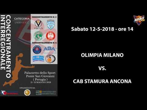 Concentramenti Under 15 Ecc. 2018 - Olimpia Milano vs. CAB Stamura Ancona