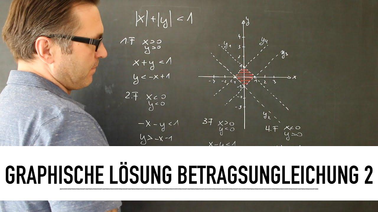 Wie löse ich eine Betragsungleichung grafisch
