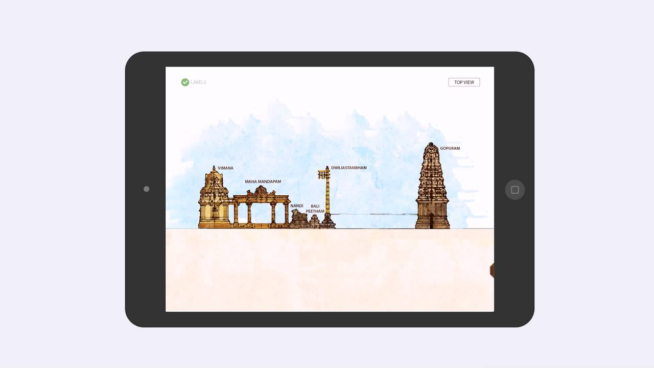 Elements of south indian temple architecture an ipad app - Application architecture ipad ...