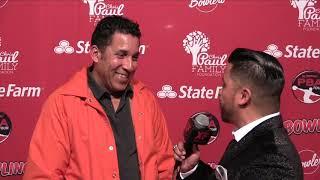 Oscar Nuñez on the Red Carpet at 2018 CP3 PBA Celebrity Invitational