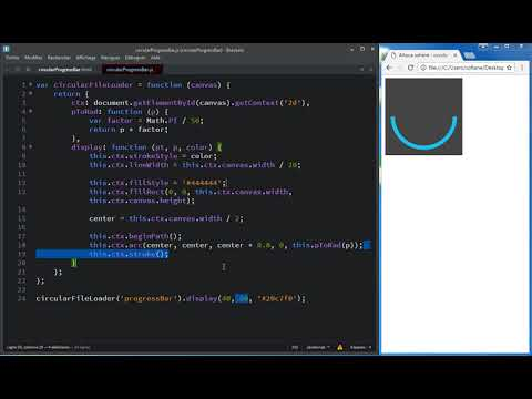 circular ProgressBar using HTML canvas and javascript