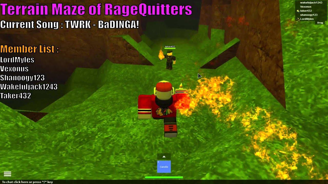 Roblox game night terrain maze of ragequitters youtube for Terrain meze