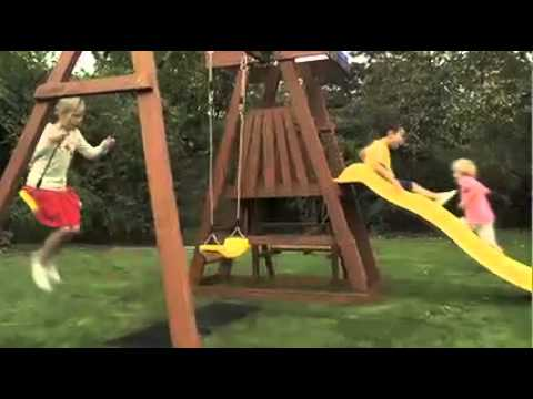 Plum Indri Wooden Climbing Frame Outdoor Play Centre with Double Swing, Slide & Picnic Table