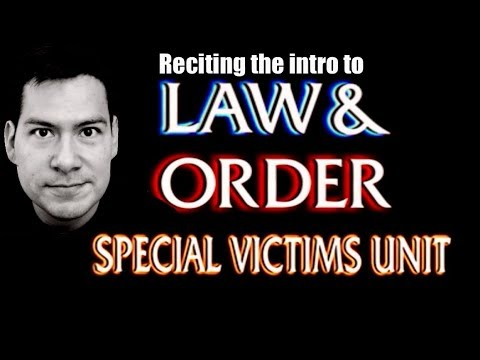 Law and Order SVU: Reciting the voice
