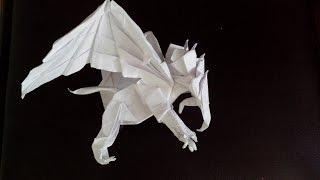 Как сделать грифона оригами, (Kade Chan) griffin origami