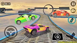 Impossible Car Tracks 3D: Green, Red & Pink Cars Levels 11,12 & 13 Completed - Android Gameplay