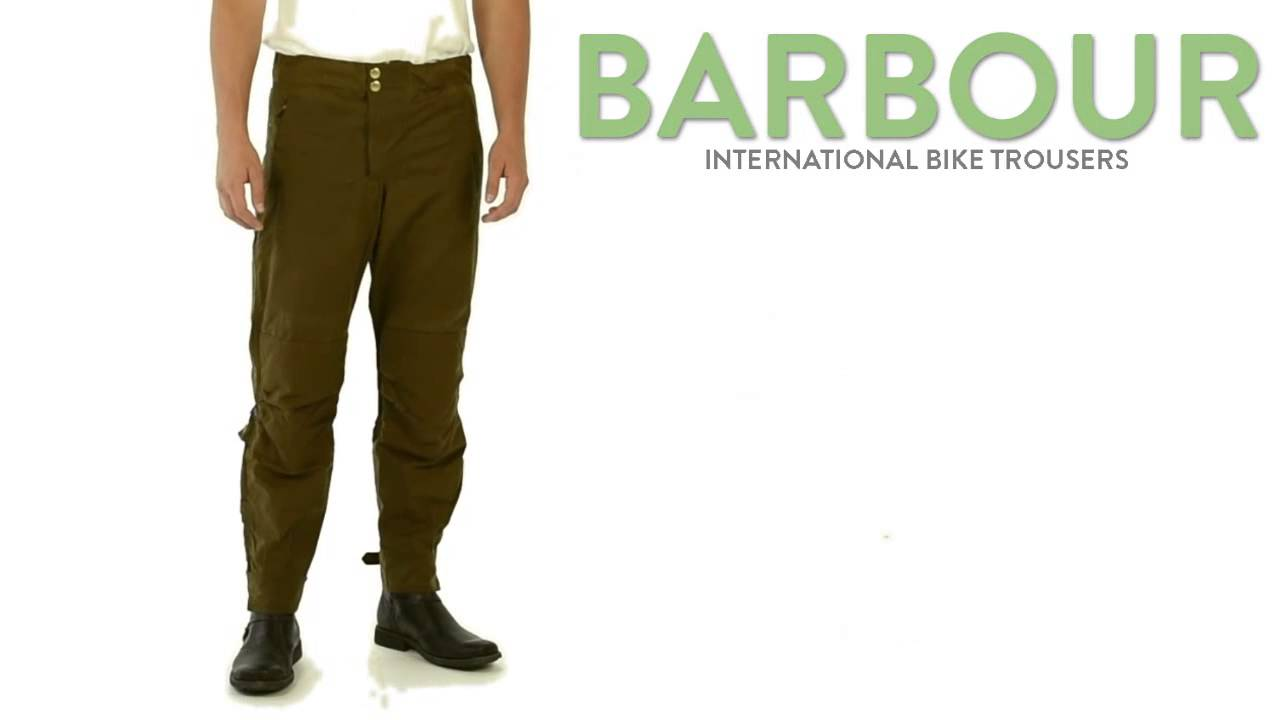 Barbour International Motorcycle Trousers Waxed Cotton