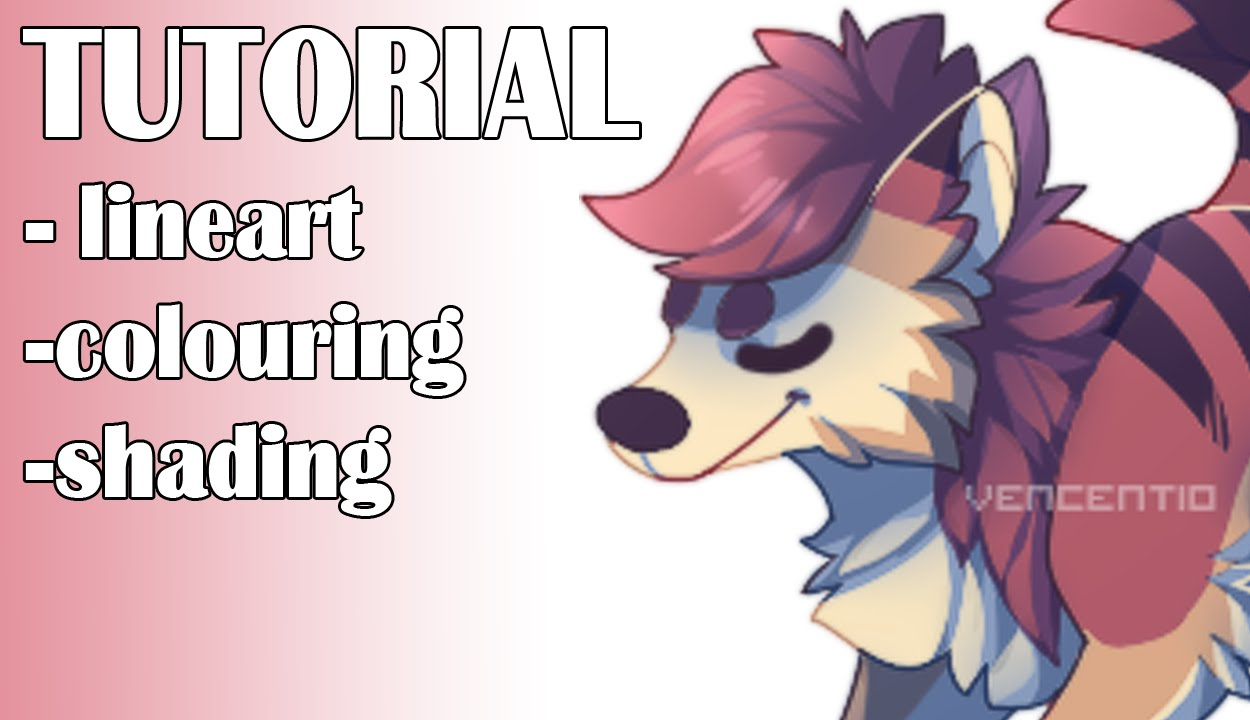 [PAINT TOOL SAI] lineart/colouring/shading tutorial - YouTube