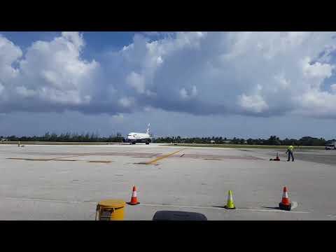 Owen Roberts International airport arrival
