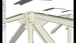 видео Проектирование и расчет стальных ферм покрытий из парных уголков  (Л.П. Абашева, И.И. Зуева, 2008)