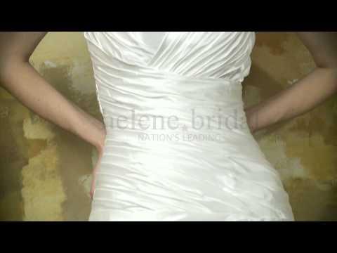 princess-strapless-sweetheart-artificial-silk-wedding-dress---style-wd6228---helenebridal.com