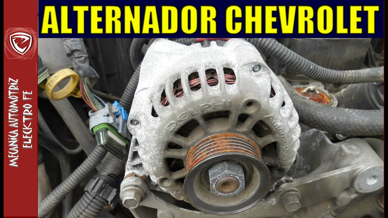 Removing alternator on 2000 Chevy blazer (quitar ...