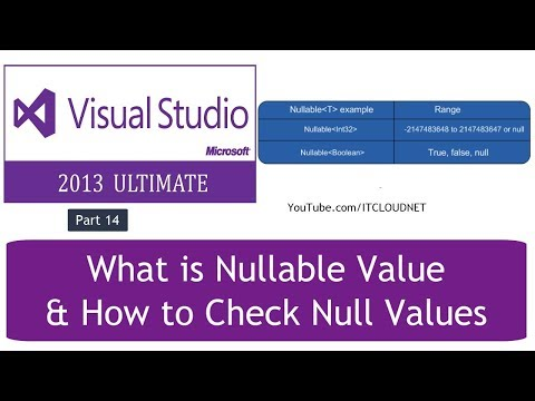 What is Nullable Value & How to Check Null Values in C#.NET Visual Studio Ultimate 2013 - Part 14