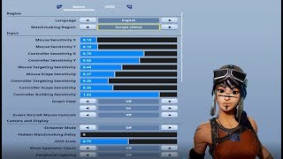 Best Controller Sensitivity Settings (Fortnite Battle Royale)