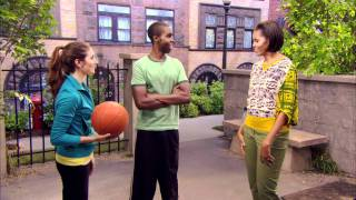 Alyson Stoner and Daniel Curtis Lee shoot hoops with First Lady Michelle Obama for Disney