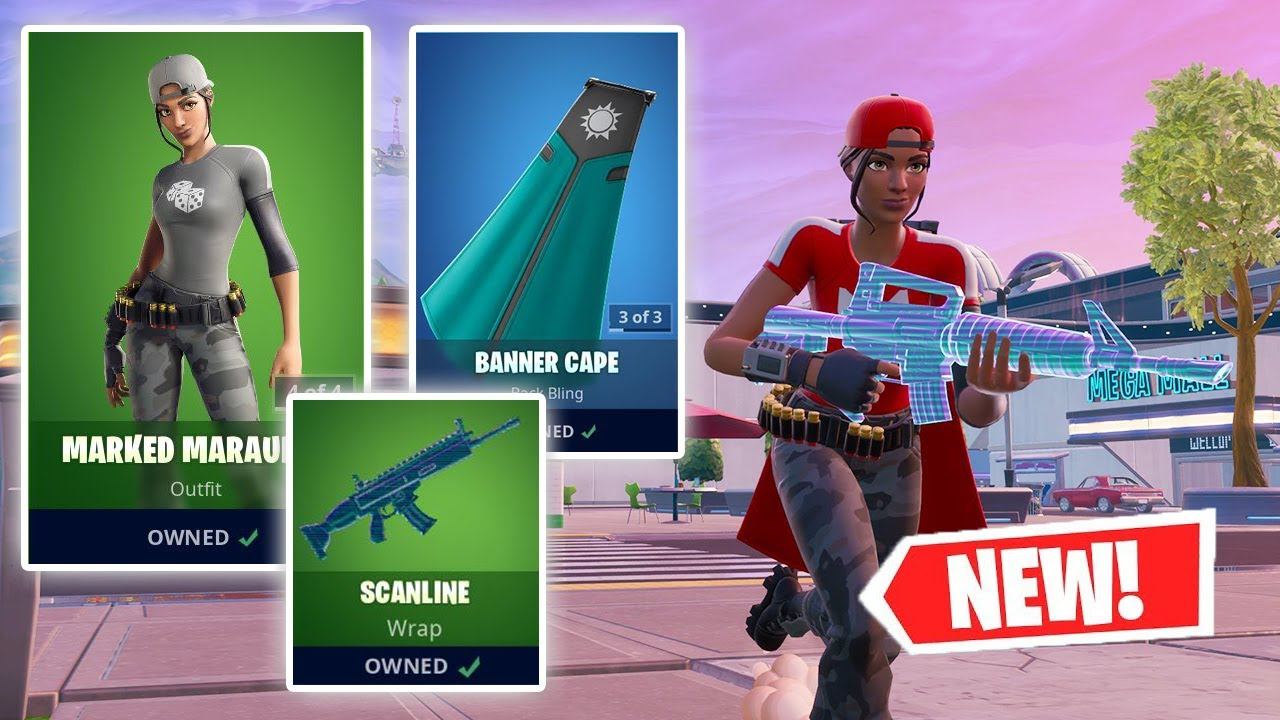 NEW BANNER Skin, BANNER Cape, and SCANLINE Wrap Gameplay in Fortnite!