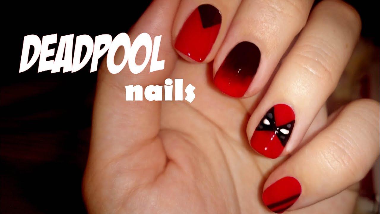 Deadpool Nail Art Serie Superhéroes