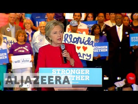 US election 2016: Hillary Clinton appeals to Florida voters