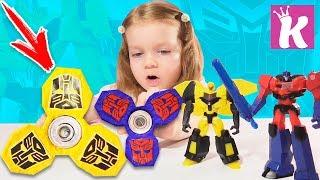 СПИННЕР ТРАНСФОРМЕРЫ Как сделать Cпиннер Своими руками DIY Transformers Fidget Spinner