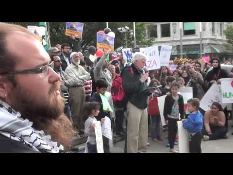 Gaza Peace & Anti Racism Rally Calgary, Alberta, Canada July 25, 2014 - Short Version