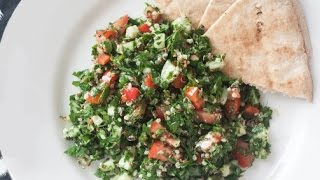 Quick,yummy, Raw, Vegan Tabbouleh!  Feast In The Middle East:episode 4