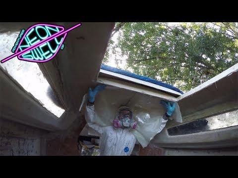 Impossible Vertical Fiberglassing of the Divinycell Core (22' Sailboat Refit) - Episode 14
