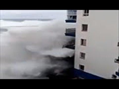 Huge waves hit Tenerife in Spain's Canary Islands