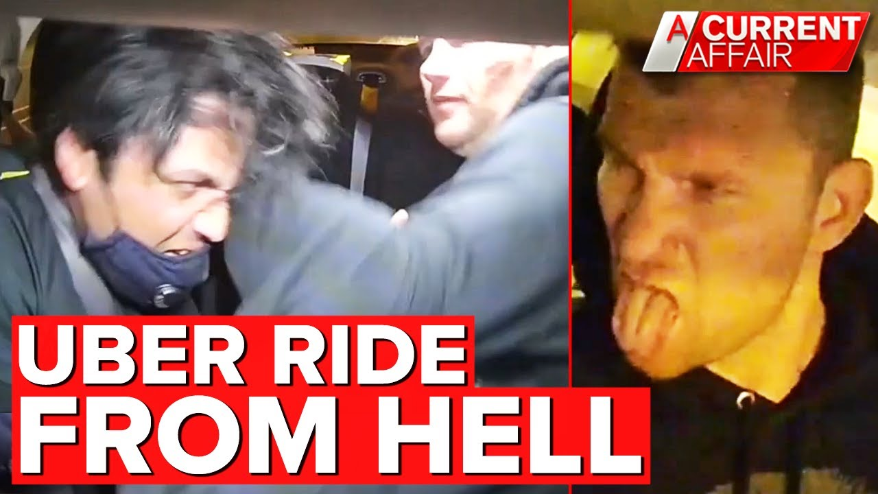 Terrifying attack on Uber driver caught on camera   A Current Affair