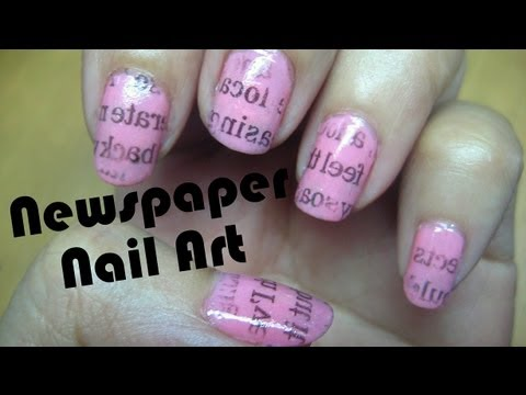 Newspaper nail art tutorial realasianbeauty youtube newspaper nail art tutorial realasianbeauty prinsesfo Choice Image