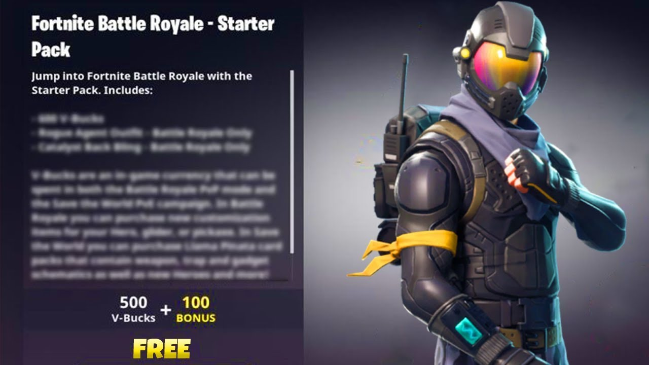 how to get free skins vbucks on fortnite new rogue agent vbucks starter pack on fortnite - fortnite rogue agent outfit