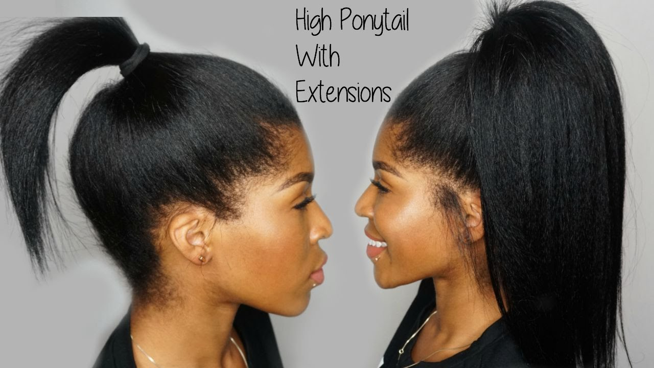 High ponytail using clip ins ft knappyhair extensions youtube pmusecretfo Images