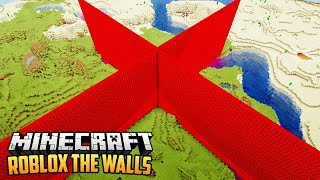 ROBLOX LUCKY BLOCK THE WALLS 1 vs 1 - Minecraft Mod Challenge