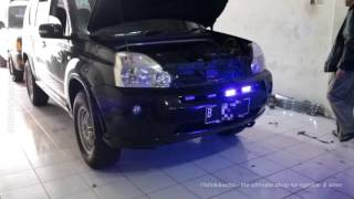 Senken CJB100BD, Fedsig H7 Double, Grill Led 4R on a Nissan Xtrail, by blink