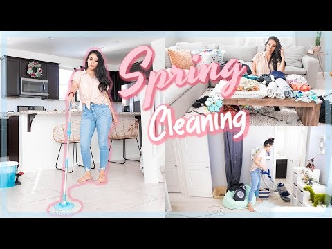 NEW! SPRING CLEAN WITH ME || All Day Cleaning Motivation 2019