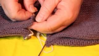 Как укоротить вязаную вещь