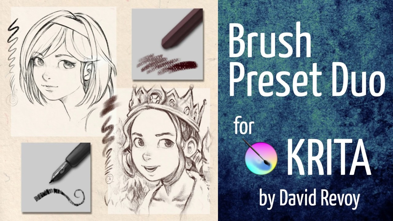 Brush preset duo free bundle for krita