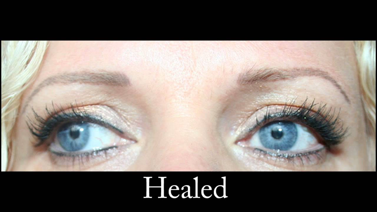 Semi Permanent Make Up Hair Stroke Eyebrow Tattoo - YouTube