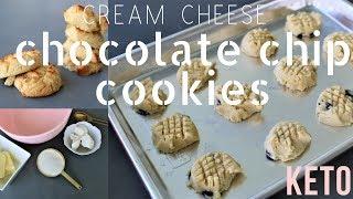Chocolate Chip (Cream Cheese) Cookies - Keto / Low Carb | Ashley Salvatori