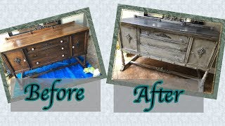 Chalk Paint and Distressing // Buffet Restoration // Annie Sloan Chalk Paint and Wax