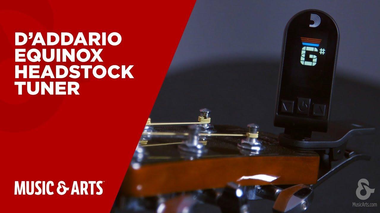 Clip On Guitar Tuner >> D'Addario Equinox Headstock Tuner - YouTube