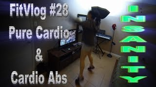 FitVlog #28-- Walk to School Day + Pure Cardio & Cardio Abs | INSANITY