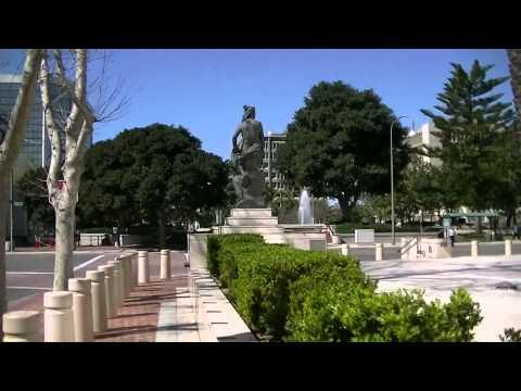 Walking in Part of Downtown Santa Ana, California