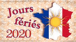 JOURS FÉRIÉS 2020 CODE DU TRAVAIL L3133 1 !!! FR