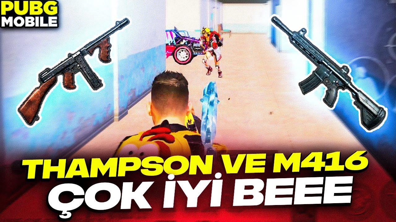 THAMPSON VE M416 ÇOK İYİ BEEE😉 PUBG MOBİLE