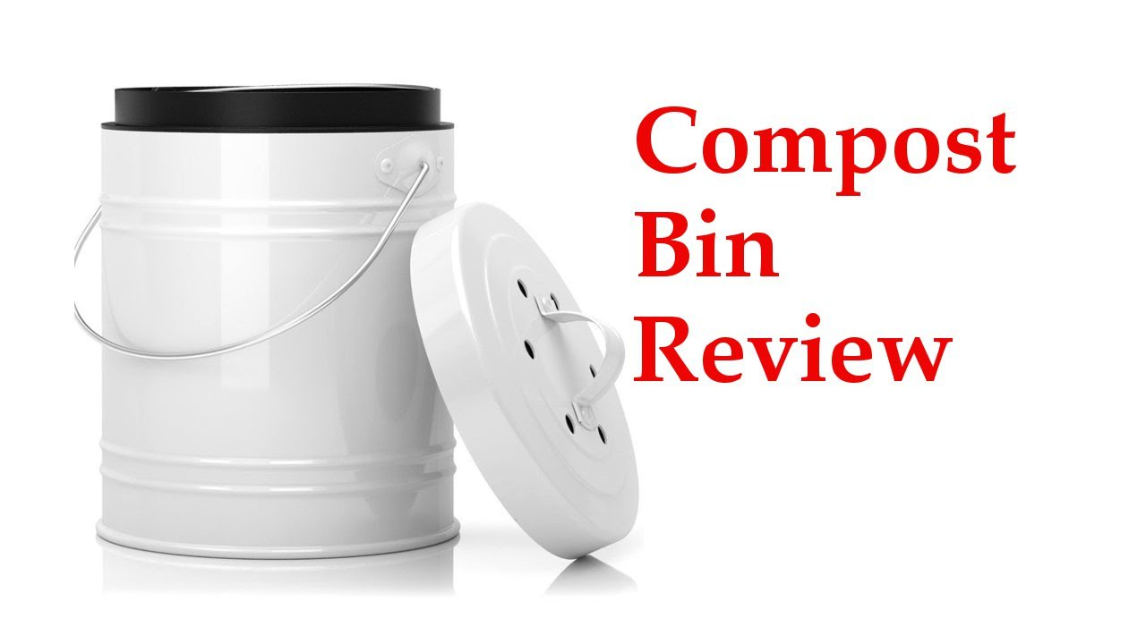 compost bin for kitchen pink countertops review of large your countertop youtube