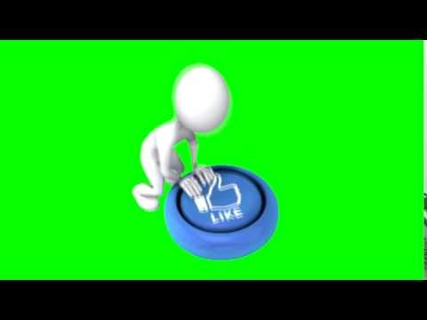 Like button - green screen