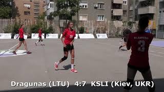 Handball. Dragunas (LTU) - KSLI (Kiev, UKR). U16 girls. TROPHY-2018. Smederevo.