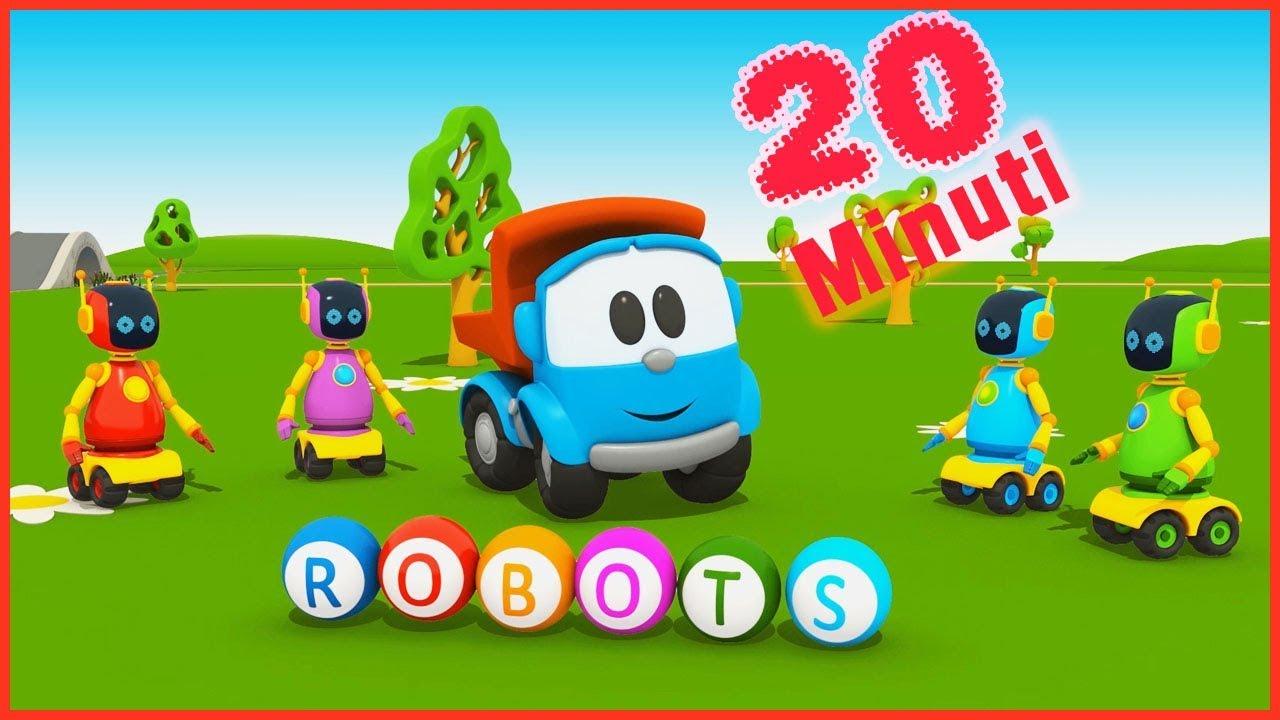Camioncino leo junior e i robot cartoni animati per