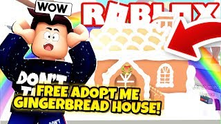 How to Get a FREE GINGERBREAD HOUSE in Adopt Me! NEW Adopt Me Gingerbread House Update (Roblox)